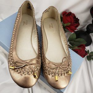 Shimmery Gold Flats, Preowned